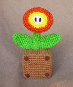 Mario brothers crochet patterns:  10 patterns include Bombomb, Chain-Chomp, FireFlower, Goomba!, King Boo, Luigi, Luma, Mario, Mario Brothers Mushrooms, Toad and Toadette