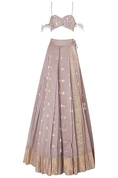 Lilac floral embroidered tassels lehenga set available only at Pernia's Pop Up Shop. - Source by - Dress Indian Style, Indian Dresses, Indian Wedding Outfits, Indian Outfits, Indian Designer Outfits, Designer Dresses, Chambray Outfit, Velvet Dress Designs, Party Wear Lehenga