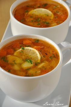 Greek Recipes, Soup Recipes, Vegetarian Recipes, Cooking Recipes, Healthy Recipes, Weight Watchers Soup, Good Food, Yummy Food, Romanian Food