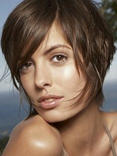 short hair woman with brown color trends 2012