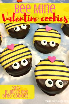 Surprise your Valentine with this Bee Mine sweet cookies that are easy to make! Perfect for Valentine's Day, class parties, Spring celebrations and baby showers too!