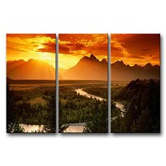 So Crazy Art® 3 Pieces Wall Art Painting Snake River Grand Teton National Park Mountain Trees Grassland Sunset Pictures Prints On Canvas Landscape The Picture Decor Oil For Home Modern Decoration Print For Kids Room So Crazy Art http://www.amazon.com/dp/B00M93CA7C/ref=cm_sw_r_pi_dp_E4LDvb1KBQS46