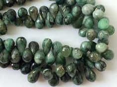 Emerald Beads Green Emerald Faceted Tear Drops by gemsforjewels