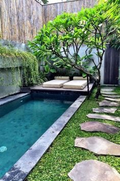 Pool For Backyard Small Pools For Small Backyards Backyard Pools Small Pool Ideas Pictures Of Small Pools For Small Backyard Pool Landscaping Pictures – dutchplaces. Backyard Pool Designs, Small Backyard Gardens, Small Backyard Landscaping, Backyard Patio, Backyard Ideas, Landscaping Ideas, Pool Ideas, Pergola Ideas, Small Backyards
