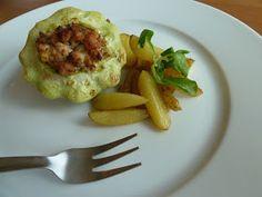 Kuchařská vášeň: Patizon plněný mletým masem Baked Potato, Potatoes, Eggs, Favorite Recipes, Baking, Breakfast, Ethnic Recipes, Food, Morning Coffee