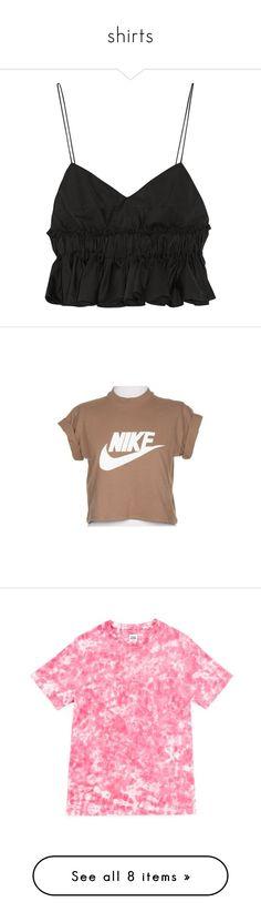 """shirts"" by fashionparadiseee ❤ liked on Polyvore featuring tops, crop top, shirts, tank tops, lightweight shirt, frilly shirt, ruffle shirt, elastic waist tops, peplum shirt and t-shirts"