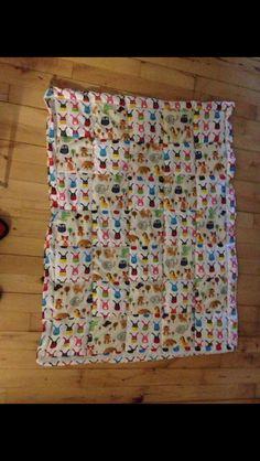Syet patchwork tæppe