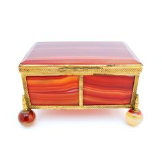 19th Century Bronze Dore and Agate Box | From a unique collection of antique and modern boxes at http://www.1stdibs.com/furniture/more-furniture-collectibles/boxes/