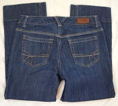 Tommy Hilfiger Cropped Capri Mid Rise Womens Jeans Size 2 (P10#1245) #TommyHilfiger #CapriCropped