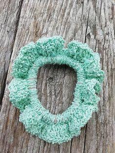 SalixAlba / Háčkované gumičky do vlasov (Tyrkysová) Crochet Earrings, Jewelry, Jewlery, Bijoux, Jewerly, Jewelery, Jewels, Accessories