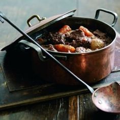slow-cooked winter beef and chestnut casserole