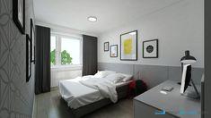 Interiér spálne v sivej farbe Interior Design, Bedroom, Furniture, Home Decor, Design Interiors, Room, Homemade Home Decor, Home Interior Design, Interior Architecture