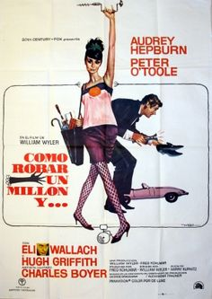 How to Steal a Million, 1977 - original vintage movie poster by Robert E McGinnis for the film starring Audrey Hepburn and Peter O'Toole listed on AntikBar.co.uk