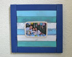 picture frame beachy colors. Beachy Picture Frame. Rustic simple decor. Beach style. Nautical style. Coastal living. Vintage