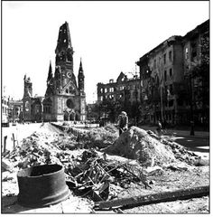 Berlin - Another shot of the destruction near the Berlin Zoo. Photo by Robert Capa, 1945, all rights reserved