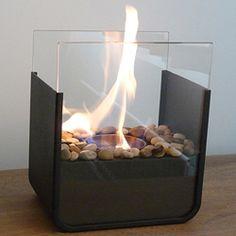 Portable Bio Ethanol Fireplace. No odour, no smoke, gotta love that!