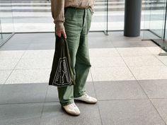 Japanese Fashion, Khaki Pants, Bags, Handbags, Japan Fashion, Khakis, Bag, Totes, Trousers