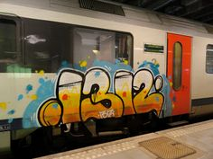 graffiti art on train