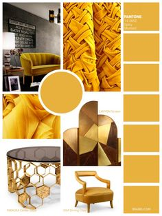 Spicy Mustard   9 Amazing Mood Boards To Inspire Your Next Fall Home Decor Project   Interior Design Inspiration. Color Trends. #colortrends #interiordesign #homedecor Read more: https://www.brabbu.com/en/inspiration-and-ideas/interior-design/moodboard-inspiration