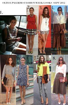 Olivia Palermo Fashion Week Looks Sept 2012  http://tallskinnyrich.com/blog/2012/09/1249/