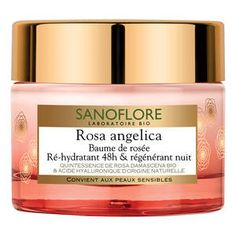 Sanoflore-Rosa angelica - Baume de rosée ré-hydratant 48h et régénerant nuit