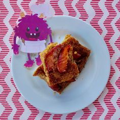 Nectarine Upside Down Corn Cake - Nomster Chef Blog Recipe Fun Food, Good Food, Healthy Desserts For Kids, Chef Blog, Corn Cakes, Cooking With Kids, Kids Nutrition, Kid Friendly Meals, Kids Meals
