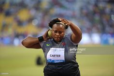 USA's Michelle Carter competes in the Shot Put at the Diamond ...