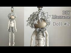 DIY Macrame Doll For Wedding / 마크라메 인형 - bridalshower Macrame Owl, Macrame Knots, Fashion Sewing, Diy Fashion, Paracord, Yarn Dolls, Dolls Dolls, Macrame Projects, Motif Floral