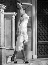 Wedding Dresses Tulle/Lace Bow Short White/Ivory Custom Size 4 6 8 10 12 14 16++