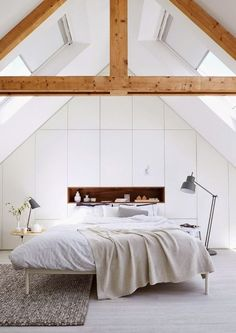 All white all over: peacefull bedroom, scandi style