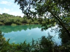 Lac de St Cassien - man-made lake in Provence, France, great for water sports (without a motor!)