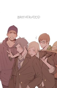 Art of the boys from Final Fantasy XV: Brotherhood.Leave a message in the notes if you want it signed.