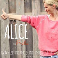 Ebook ALICE - ein RaglanFledermausSweater  ausführliche Nähanleitung und Schnittmuster in Gr. 36-46