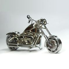 Harley Fatboy : Motorcycle Model 30cm Metal by ShoppingZonePlus