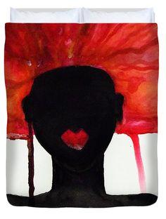Diva Duvet Cover for Sale by Lkb Art And Photography Guest Bedroom Decor, Master Bedroom Design, Canvas Art Prints, Canvas Wall Art, Framed Prints, Drip Art, Watercolor Artwork, Queen Duvet, Wood Print