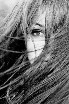 Windy long hair