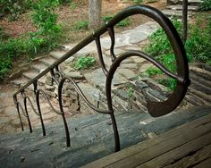 I love blacksmithing!  This is a great piece.  A hand rail at the Penland School of Crafts by Zach Noble of Noble Forge.