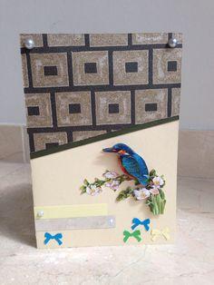 Schattige kaart met vogeltje! Cute card with little bird! DIY