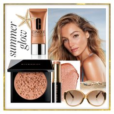 """""""summer glow"""" by sandevapetq ❤ liked on Polyvore featuring beauty, Bobbi Brown Cosmetics, Givenchy, Clinique and Louis Vuitton"""
