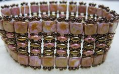 super duo bead patterns | ... Tila Twin Band, this pattern was designed by Deborah Roberti and