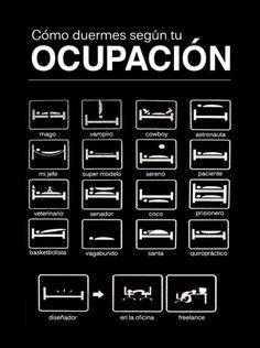 Cómo duermes según tu #ocupación / #Empleo - #Humor