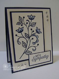 Stampin' Up! Flourishing Phrases stamp set, Sympathy Card, Stampin' Studio