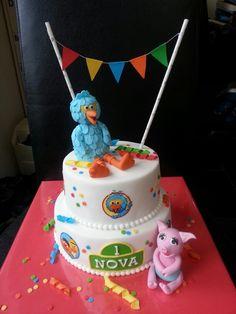 Sesamstraat taart Birthday Cake, Birthday Parties, Cake Smash, Diy For Kids, Party Themes, Cake Ideas, Babyshower, Holland, Desserts