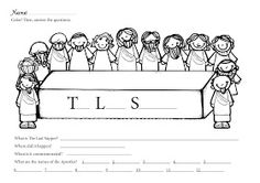 The Constant Kindergartener - A prek, kindergarten and 1st grade blog.: Easter - The Last Supper Freebie!