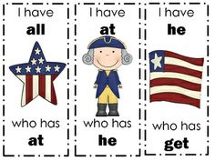 "Your students will want to salute this patriotic version of ""I have. Learning Sight Words, Sight Word Games, Addition Facts, Recording Sheets, Math Facts, Presidents Day, Math Centers, Education, Puzzles"