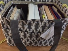 Two Fold N' Files inside of the Soft Utility Tote creates an office on the go! www.shopaway4bags.com