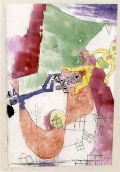 Paul Klee 'The Two Cries' 1918 Ink,pencil and watercolor