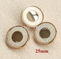 Aliexpress.com: Comprar Mínima. es $12 ( orden de la mezcla botón ) 25 mm alto grado de color dorado metal botones con la resina de la perla, botones de costura para abrigo ( ss a2213 ) de Botones fiable proveedores en DECO INTERNATIONAL CO.