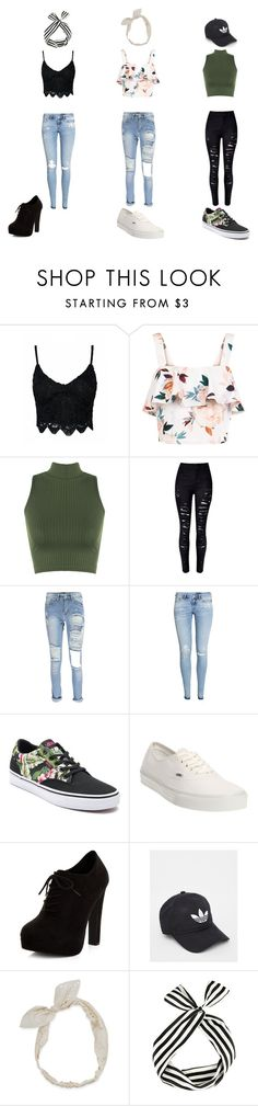 """""""#27"""" by aliviaw on Polyvore featuring New Look, WearAll, WithChic, H&M, Vans, adidas and Carole"""