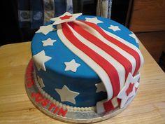 Military farewell Kake by Karan Holiday Cakes, Holiday Fun, Farewell Cake, Military Cake, Cupcake Cakes, Cupcakes, Flag Cake, American Cake, Vintage Cakes